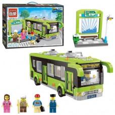 Конструктор BRICK 1121 автобус, остановка, фигурки, 420дет