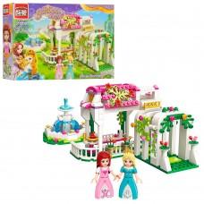 Конструктор BRICK 2602 розовая серия, сад, фонтан, фигурки, 261дет
