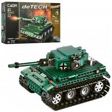 Конструктор C51018W на радиоуправлении, танк, 313 деталей, е деталей, на батарейках