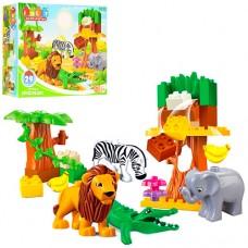 Конструктор JDLT 5032 зоопарк, животные4шт, 29 дет