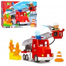Конструктор JDLT Городская серия 5150 Пожарная машина, 15  деталей, звук, свет