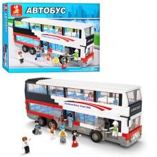 Конструктор SLUBAN M38-B0335 двухэтажный автобус, фигурки, 741дет