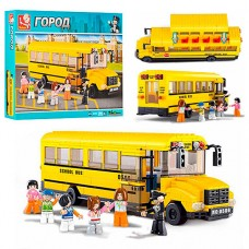 Конструктор SLUBAN M38-B0506 школьный автобус, фигурки 6шт, 382дет