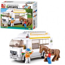 Конструктор SLUBAN M38-B0559 машина для перевоз.лошадей, фигурки, лошадь, 170д, в кор