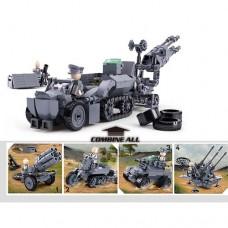 Конструктор SLUBAN M38-B0680 военная техника, фигурка, от79дет 8шт 8видов