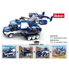 Конструктор SLUBAN M38-B0760 военная техника, от105 деталей, кор, 8шт 4вид