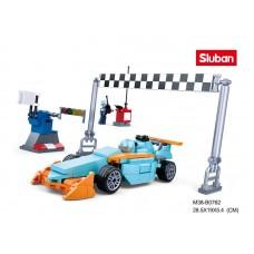 Конструктор SLUBAN M38-B0762 гонка, машина, фигурка, 210дет