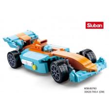 Конструктор SLUBAN M38-B0763 гонка, машина, фигурка, 221дет