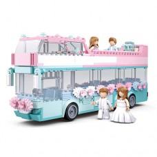 Конструктор SLUBAN M38-B0769 свадьба, автобус, посуда, фигурки, 379дет