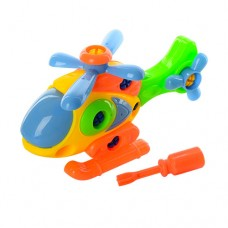 Конструктор YH831 на шурупах, вертолет, отвертка, в сетке