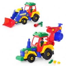 Конструктор детский 1233 трактор, 2 вида