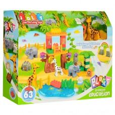 Конструктор Зоопарк 5021 крупные детали, зоопарк, 63 деталей, 3+