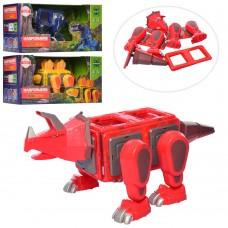 Конструктор LQ623-4-5 магнитный, динозавр, звук, свет