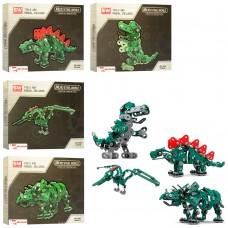 Конструктор SW-026-7-8-9 металл, динозавр, от 159 деталей, 4вида
