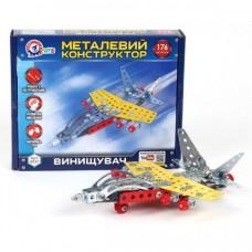 Конструктор металлический Истребитель ТехноК, арт.4937