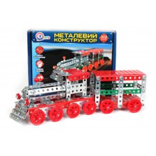 Конструктор металлический Поезд ТехноК 20.5х16х4 см, арт. 4814