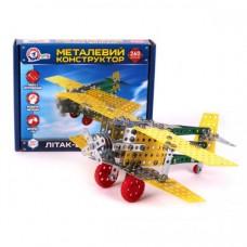 Конструктор металлический Самолет-биплан ТехноК арт.4791