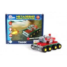 Конструктор металлический Танк Техноком 20.5х16х4 см, арт. 4951