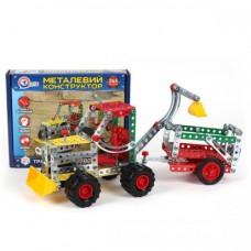 Конструктор металлический Трактор с прицепом ТехноК, арт. 4876