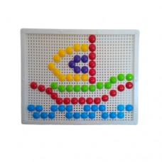 Мозаика 30-016 Киндервей Мозаика с круглыми фишками, 120 шт, доска 27, 5х21, 5 см 30-016 Киндервей