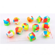 Кубик 11 4-4-4см, головоломка, микс видов, упаковка 12шт в кульке