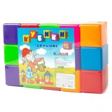 Кубики большие 15 шт 022 Бамсик