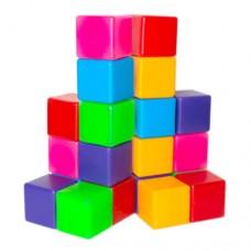 Кубики цветные 20 шт Бамсик 111/2 в сетке