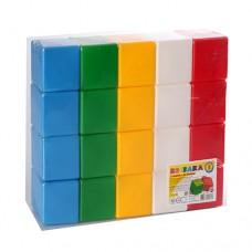 Кубики пластмасовые (20 элементов) ТехноК 1707