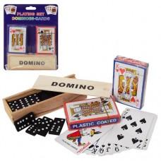 Настольная игра A140 домино дерев, карты 2шт