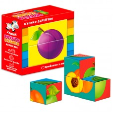 Деревянные кубики. Фрукти ZB1001-04