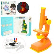 Микроскоп 3102C 20см, инструменты, линзы, свет, 2цвета, на батарейках