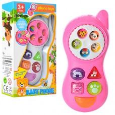 Телефон B6200 13см, муз, свет, 2 цвета, на батарейках