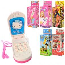 """Телефон M 0265 I U/R-1 телефон """"раскладушка"""", озвучен на радиоуправлениисском языке, светится антенна, 6 видов, 11, 5-4, 5-3см, копия 1103SC"""