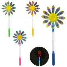 Ветрячок M 5738 цветок2шт, св, разм.мал, диам17см, палочка34см, 4цв, бат табке