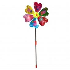 Ветрячок M 5739 цветок, диаметр 20 см, палочка 40 см