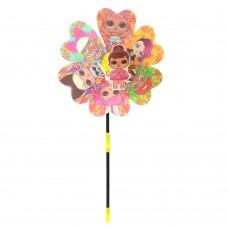 Ветрячок M 6060 LOL, цветок, размер маленький, диам. 22см, палочка 36смке