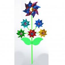 Ветрячок M 6238 цветок, на палочке 30 см, фольга