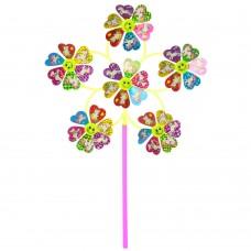 Ветрячок M 6243 Цветок, диаметр 31 см, на палочке 27 см, фольга