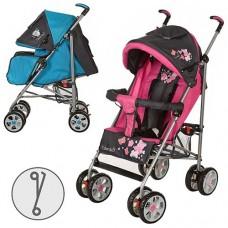 Прогулочная коляска Bambi M 2105-1, серо-малиновый и серо-голубой