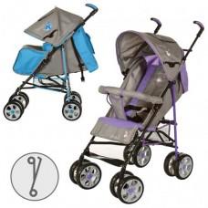 Коляска-трость Bambi M 2108-1, серо-фиолетовый и серо-голубой