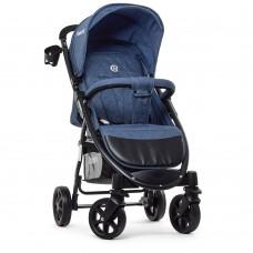 Прогулочная детская коляска El Camino M 3409L FAVORIT Navy Blue, синий
