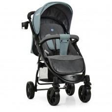 Прогулочная детская коляска El Camino M 3409L FAVORIT Pale Blue, синий