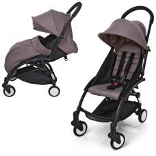Детская прогулочная коляска Bambi M 3548-17 YOGA, коричневый