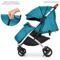 Прогулочная коляска El Camino M 3910-12 Yoga II Turquoise, бирюзовый