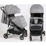 Прогулочная детская коляска Bambi M 4249 Gray, серый