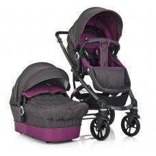 Универсальная коляска 2 в 1 El Camino ME 1021-9 B-Move Grey Purple, серый-фиолетовый