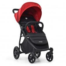 Детская прогулочная коляска El Camino ME 1032L ESCAPE Crimson Black, бордовый