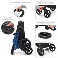 Детская прогулочная коляска El Camino ME 1032L ESCAPE Denim Black, бирюзовый