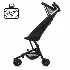 Детская прогулочная коляска El Camino ME 1033 QWERTY Black, черный