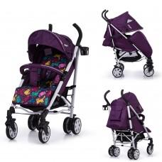 Коляска-трость Carrello CRL-10101/1 Allegro Kitty Purple, лен, фиолетовый
